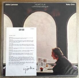 ORIGINAL UK John Lennon/ Yoko Ono - Heart Play - Unfinished Dialogue. LP