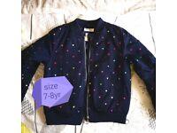 Beautiful girls jacket size 7-8 yr