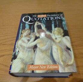 The Oxford Dictionary of Quotations Major New Edition.