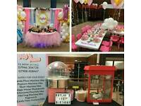 Unlimited Popcorn, Candy Floss Machine hire Slush, Hot Dog, Waffles, Chocolate Fountain,