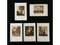 Vermeer ' edwardian prints ' set of five original vintage prints by ' Vermeer