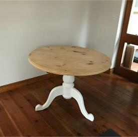Shabby Chic Round Farm House Dining Table - newly refurbished