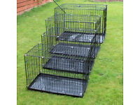 dog cages. All New. Various sizes. Crates. Cat Pens. Indoor Rabbit hutch.