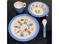 John Lewis Pirate melamine baby / toddler plate dinner set
