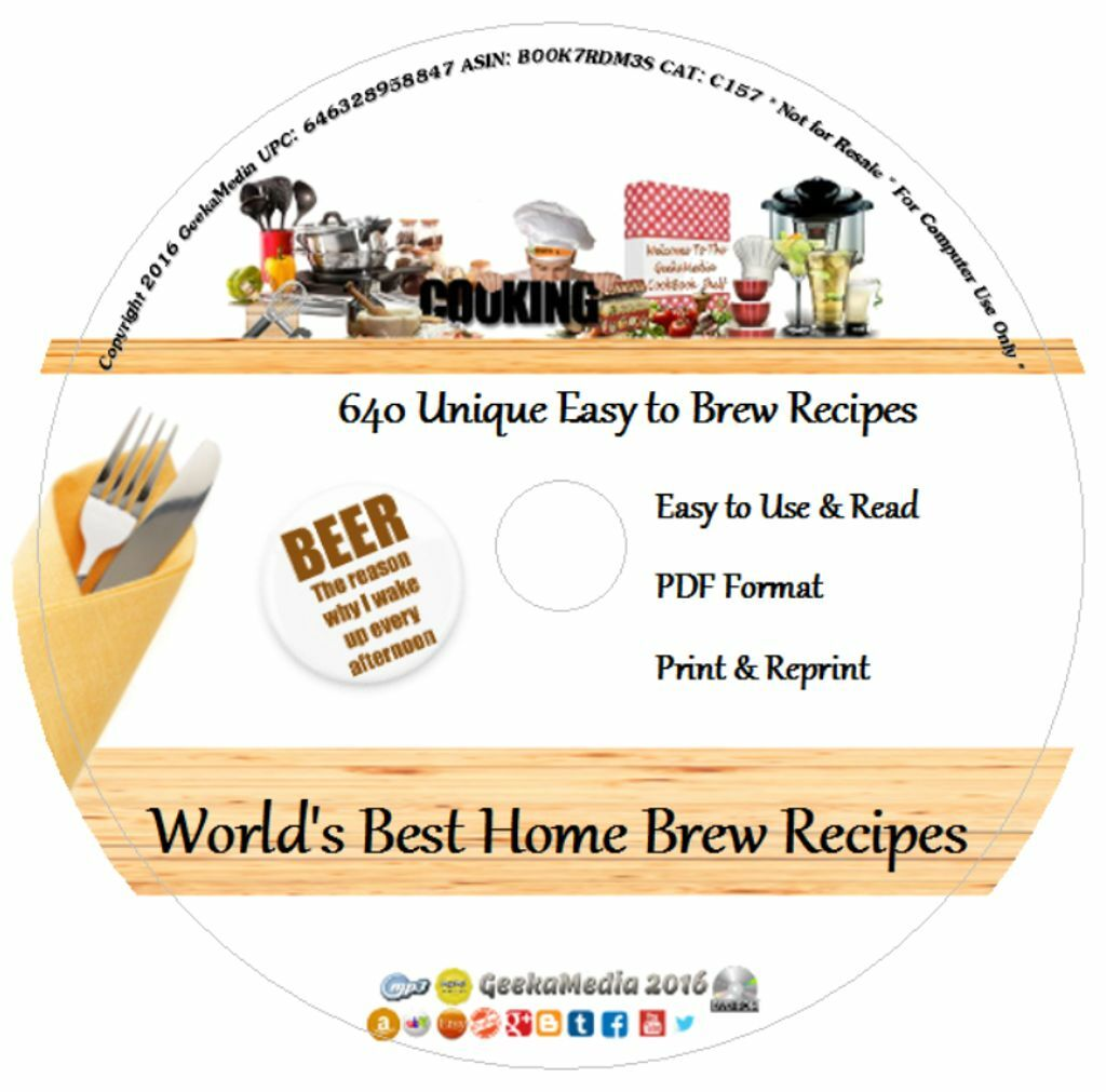 $9.49 - Brew Your Own Beer 640 Recipes CD Books how to Home Make Distill Still Cookbook