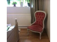 Hand Painted Vintage Retro Bedroom Chair
