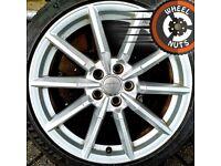 "18"" Genuine Audi TT alloys Golf Caddy Leon excellent condition."
