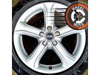 "17"" Genuine Audi alloys Renault Trafic Vauxhall Vivaro excel cond good tyres."