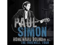 2 x PAUL SIMON TICKETS - GREAT LOWER TIER SEATS - MANCHESTER ARENA - TUESDAY 10TH JULY 2018