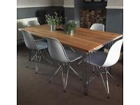Industrial Dining Table And 6 Chairs.