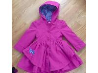 Beautiful girls rain /shower coat Butterfly girl age 2-3 years worn once !
