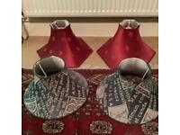 Vintage Silk & Fabric Lampshades