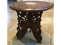 Indian carved side table.