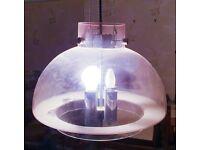 1960s Hanging Light Ceiling Lamp Chandelier Glass Mid Century Modern V