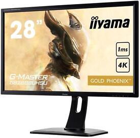 "28"" IIyama GOLD PHOENIX G-MASTER 4K monitor"