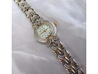 Ladies Silver/Gold Dress Watch by Saima