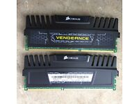 Corsair Vengeance 8 GB (2 x 4 GB) DDR3 1600 MHz CL9 XMP Performance Desktop Memory Kit - Black