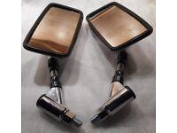 Yamaha XVS650 XVS650A Mirror Assemblies (Pair LH & RH) Genuine Parts- VGC