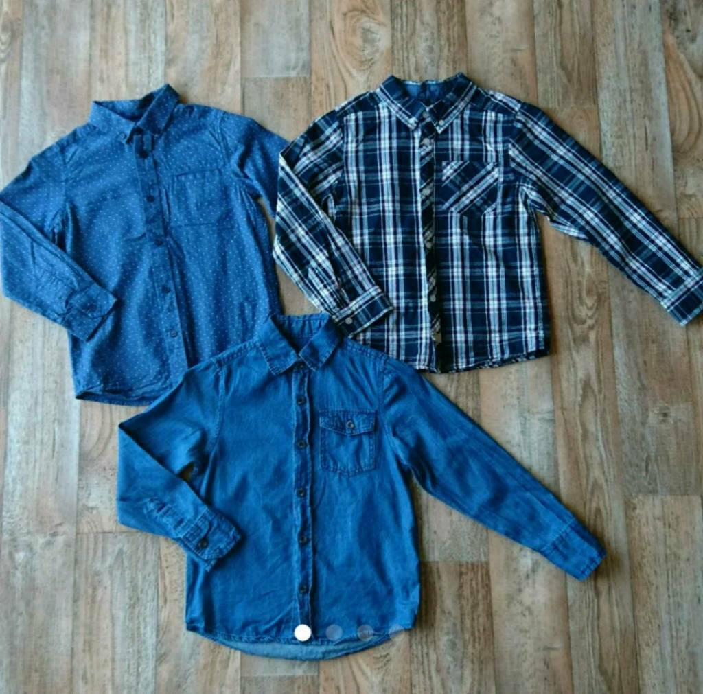 3 x boys long sleeved shirts, size 7-8'