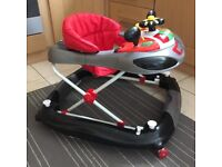 F1 car baby walker red and black