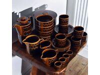 Vintage/Retro 1970's Hornsea Heirloom Pottery 38 Piece Set