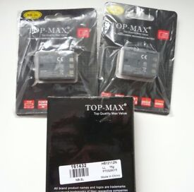 2 x canon batteries & charger for EOS Camera