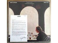 JOHN LENNON YOKO ONO - HEARTPLAY - UNFINISHED DIALOGUE Polydor LP