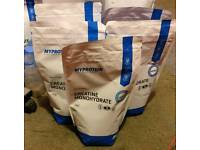 5 bags of MyProtein Creatine Monohydrate 1kg