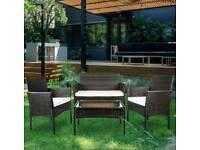 Brand New 4 piece rattan garden furniture set