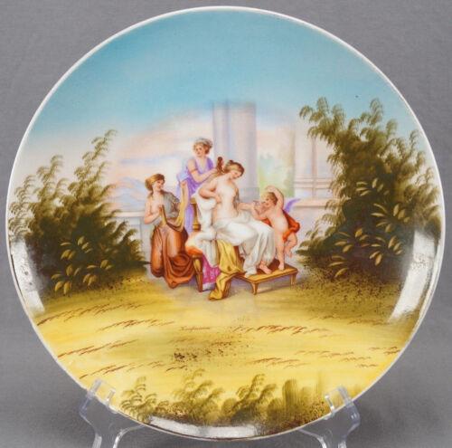 Victoria Carlsbad Austria Kaufmann Neoclassical Women & Cherub 9 3/4 Inch Plate