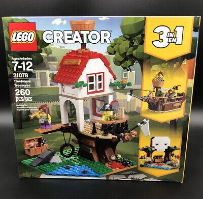 New~  Lego 31078 Creator 3 in 1 Treehouse Treasures - 260 Pieces