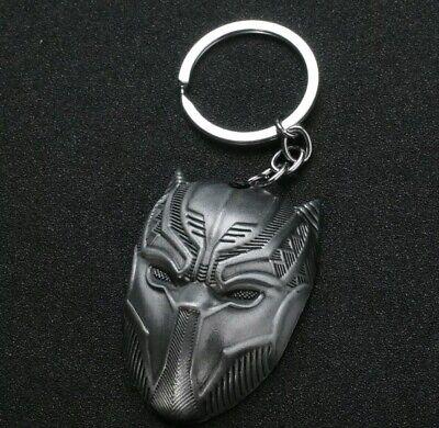 Schlüsselanhänger Maske Black Panther Marvel The Avengers Infinity War Silber  ()