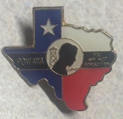 AMVETS ~ Texas POW MIO ~ Not Forgotten - Veterans Lapel Hat Pin
