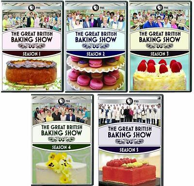 The Great British Baking Show Series Complete All 1-5 Seasons DVD Set