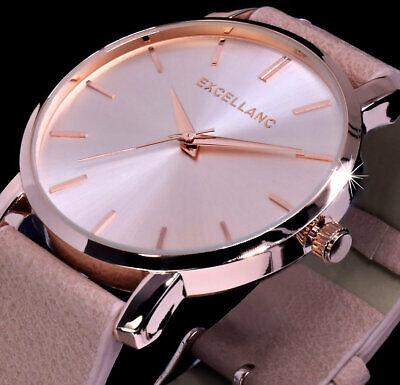 Excellanc Uhr Damenuhr Armbanduhr Nude Rose Gold Farben L11