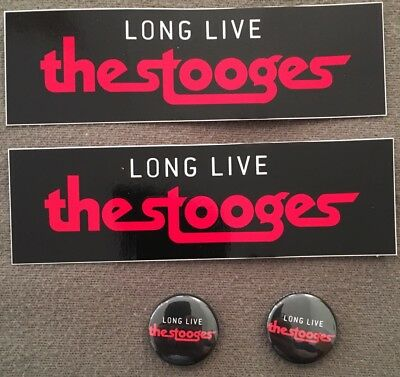 THE STOOGES, Promo Stickers & Promo Buttons, 2017, Iggy Pop, LONG LIVE STOOGES