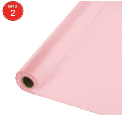Roll Of Table Cover (Creative Converting Roll Plastic Table Cover, 100-Feet, Classic Pink (Pack of)