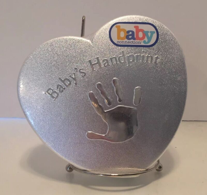 New Baby Connection Handprint Footprint kit mold plaster easel colored chalk