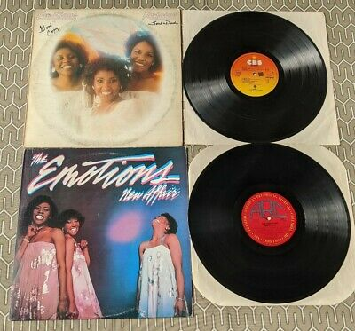 The Emotions Lot Of 2 Vinyl LP's: Rejoice (w/