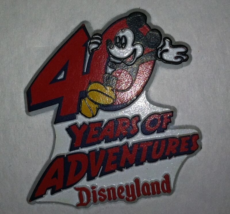 Disneyland Mickey Mouse 40 Years of Adventure Magnet