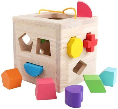 12Building Blocks Geometry Learning Matching Sorting Gifts Didactic Classic Toys