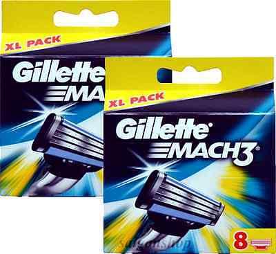 16 Stück Gillette Mach3 Rasierklingen / Klingen Mach 3 NEU & OVP