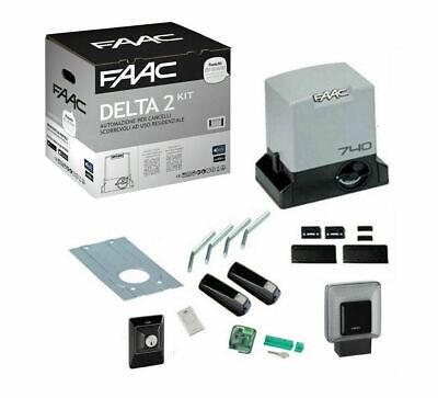 Faac Delta 2 740 Kit Puerta Corredero Automatismo Abridor Eléctrico Motor