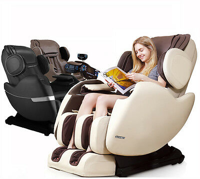 Electric Full Body Shiatsu Massage Chair Recliner Zero Gravity Straight I Track