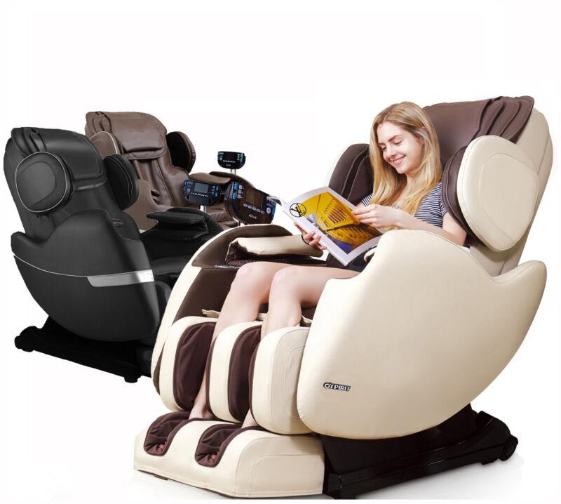 Electric Full Body Shiatsu Massage Chair Recliner Zero Gravity I track