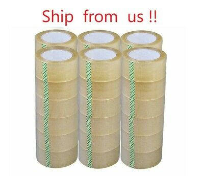 1-6-12-18-24-36 -72 Rolls 2 X 330 Ft Clear Packing Tape 110 Yards 2mil