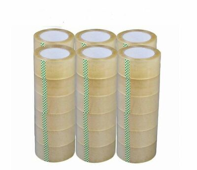 NEW 36 Rolls 2 x 330 Ft Clear Packing Tape 110 yards 2Mil