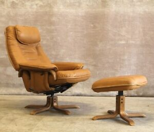 Artifex Leather Armchair w/ Footstools - Free Home ...