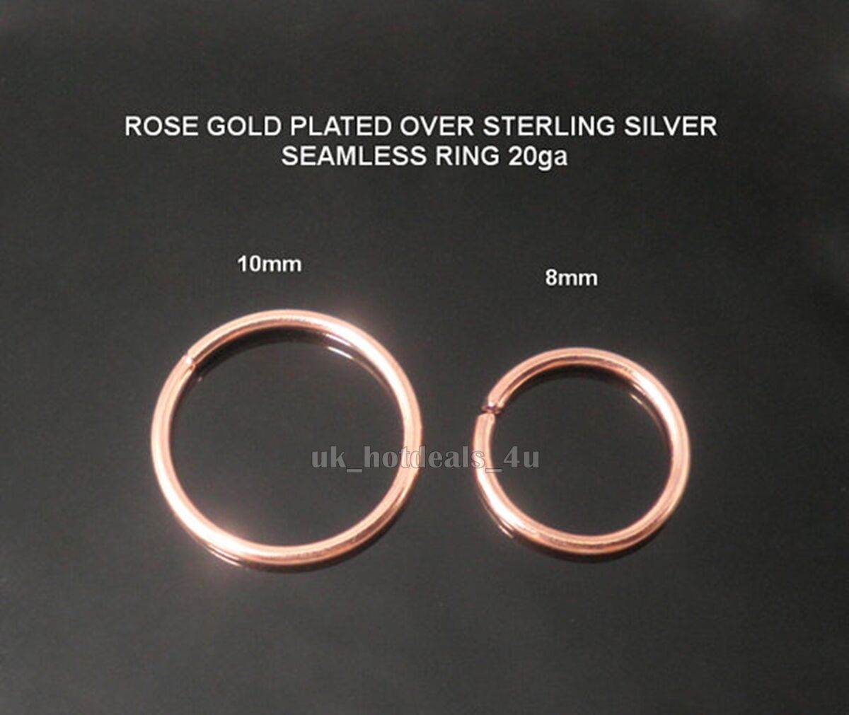 Extra Small Rose Gold Nose Ring Hoop 0 6mm Cartilage
