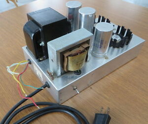 Custom Made Low Noise Linear Power Supply for Tube Amps, etc.